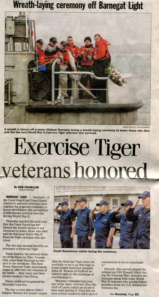 Exercise Tiger Veterans Honored